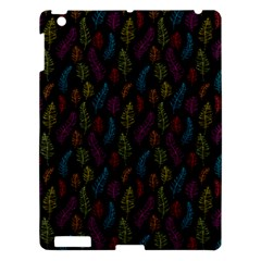 Whimsical Feather Pattern, Bright Pink Red Blue Green Yellow, Apple Ipad 3/4 Hardshell Case by Zandiepants