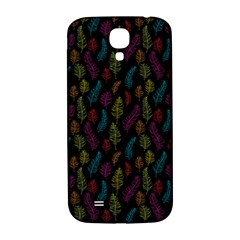 Whimsical Feather Pattern, Bright Pink Red Blue Green Yellow, Samsung Galaxy S4 I9500/i9505  Hardshell Back Case by Zandiepants