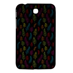 Whimsical Feather Pattern, Bright Pink Red Blue Green Yellow, Samsung Galaxy Tab 3 (7 ) P3200 Hardshell Case  by Zandiepants