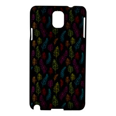 Whimsical Feather Pattern, Bright Pink Red Blue Green Yellow, Samsung Galaxy Note 3 N9005 Hardshell Case by Zandiepants