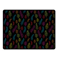 Whimsical Feather Pattern, Bright Pink Red Blue Green Yellow, Fleece Blanket (small) by Zandiepants