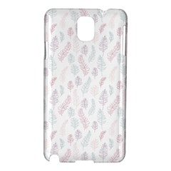 Whimsical Feather Pattern, Soft Colors, Samsung Galaxy Note 3 N9005 Hardshell Case by Zandiepants