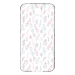 Whimsical Feather Pattern, Soft Colors, Samsung Galaxy S5 Back Case (white) by Zandiepants