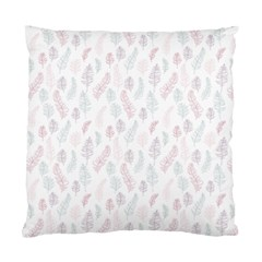 Whimsical Feather Pattern, Soft Colors, Standard Cushion Case (two Sides) by Zandiepants
