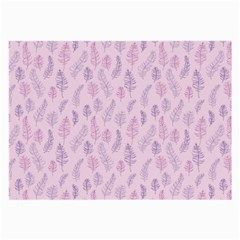 Whimsical Feather Pattern, Pink & Purple, Large Glasses Cloth by Zandiepants