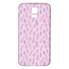 Whimsical Feather Pattern, Pink & Purple, Samsung Galaxy S5 Back Case (white) by Zandiepants