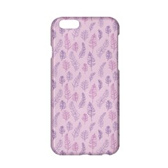 Whimsical Feather Pattern, Pink & Purple, Apple Iphone 6/6s Hardshell Case by Zandiepants