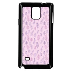 Whimsical Feather Pattern, Pink & Purple, Samsung Galaxy Note 4 Case (black) by Zandiepants