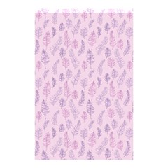 Whimsical Feather Pattern, Pink & Purple, Shower Curtain 48  X 72  (small) by Zandiepants