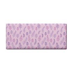 Whimsical Feather Pattern, Pink & Purple, Hand Towel by Zandiepants