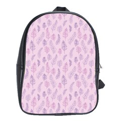 Whimsical Feather Pattern, Pink & Purple, School Bag (xl) by Zandiepants