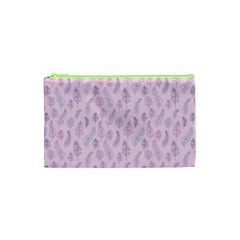 Whimsical Feather Pattern, Pink & Purple, Cosmetic Bag (xs) by Zandiepants