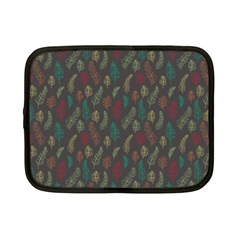 Whimsical Feather Pattern, Autumn Colors, Netbook Case (small) by Zandiepants