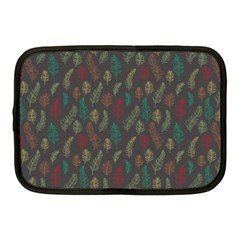 Whimsical Feather Pattern, Autumn Colors, Netbook Case (medium) by Zandiepants