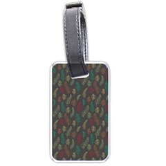 Whimsical Feather Pattern, Autumn Colors, Luggage Tag (two Sides) by Zandiepants