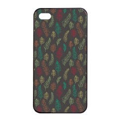 Whimsical Feather Pattern, Autumn Colors, Apple Iphone 4/4s Seamless Case (black) by Zandiepants