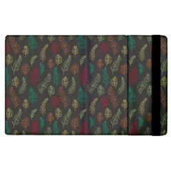Whimsical Feather Pattern, Autumn Colors, Apple Ipad 3/4 Flip Case by Zandiepants