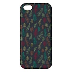 Whimsical Feather Pattern, autumn colors, Apple iPhone 5 Premium Hardshell Case by Zandiepants