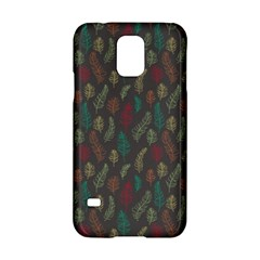 Whimsical Feather Pattern, Autumn Colors, Samsung Galaxy S5 Hardshell Case  by Zandiepants