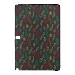 Whimsical Feather Pattern, Autumn Colors, Samsung Galaxy Tab Pro 10 1 Hardshell Case by Zandiepants