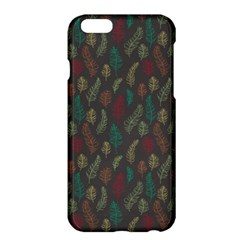 Whimsical Feather Pattern, Autumn Colors, Apple Iphone 6 Plus/6s Plus Hardshell Case by Zandiepants