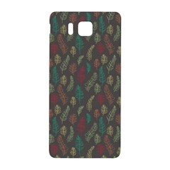 Whimsical Feather Pattern, Autumn Colors, Samsung Galaxy Alpha Hardshell Back Case by Zandiepants