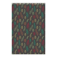Whimsical Feather Pattern, Autumn Colors, Shower Curtain 48  X 72  (small) by Zandiepants