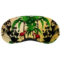 Tropical Design With Flamingo And Palm Tree Sleeping Masks by FantasyWorld7