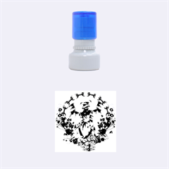Tropical Design With Flamingo And Palm Tree Rubber Round Stamps (small) by FantasyWorld7