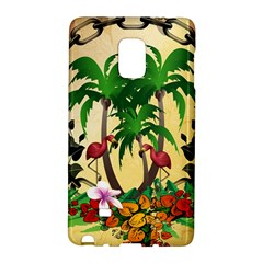 Tropical Design With Flamingo And Palm Tree Galaxy Note Edge by FantasyWorld7