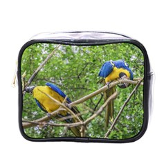 South American Couple Of Parrots Mini Toiletries Bags by dflcprints