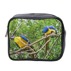 South American Couple Of Parrots Mini Toiletries Bag 2 Side by dflcprints