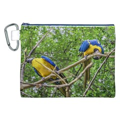 South American Couple Of Parrots Canvas Cosmetic Bag (xxl)  by dflcprints