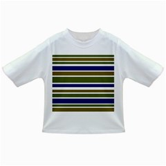 Olive Green Blue Stripes Pattern Infant/toddler T Shirts by BrightVibesDesign
