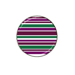 Purple Green Stripes Hat Clip Ball Marker by BrightVibesDesign