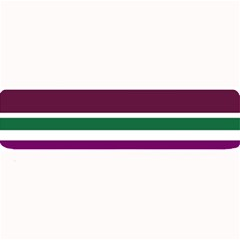 Purple Green Stripes Large Bar Mats by BrightVibesDesign