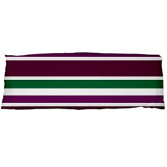 Purple Green Stripes Body Pillow Case Dakimakura (two Sides) by BrightVibesDesign
