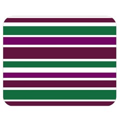 Purple Green Stripes Double Sided Flano Blanket (medium)  by BrightVibesDesign