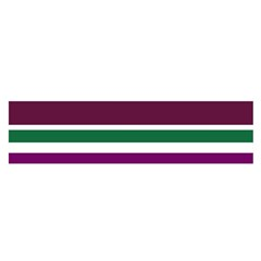 Purple Green Stripes Satin Scarf (Oblong) by BrightVibesDesign