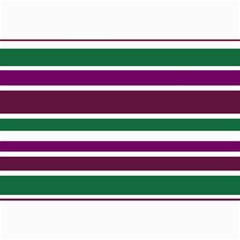 Purple Green Stripes Collage 12  X 18  by BrightVibesDesign
