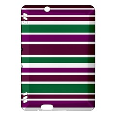 Purple Green Stripes Kindle Fire HDX Hardshell Case by BrightVibesDesign