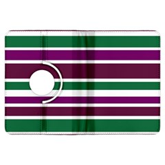 Purple Green Stripes Kindle Fire Hdx Flip 360 Case by BrightVibesDesign