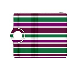 Purple Green Stripes Kindle Fire HDX 8.9  Flip 360 Case by BrightVibesDesign