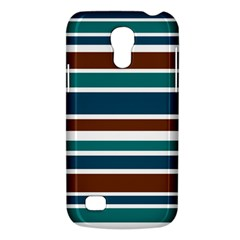 Teal Brown Stripes Galaxy S4 Mini by BrightVibesDesign
