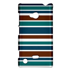 Teal Brown Stripes Nokia Lumia 720 by BrightVibesDesign