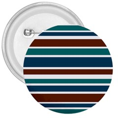 Teal Brown Stripes 3  Buttons by BrightVibesDesign