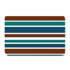 Teal Brown Stripes Plate Mats by BrightVibesDesign