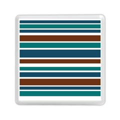 Teal Brown Stripes Memory Card Reader (Square)  by BrightVibesDesign