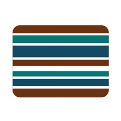 Teal Brown Stripes Double Sided Flano Blanket (Mini)  by BrightVibesDesign