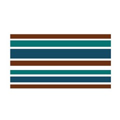 Teal Brown Stripes Satin Wrap by BrightVibesDesign